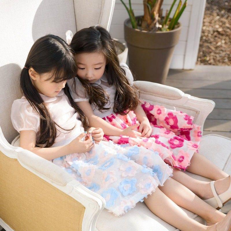 POURENFANT - BRAND - Korean Children Fashion - #Kfashion4kids - Glory Jacquard Skirt