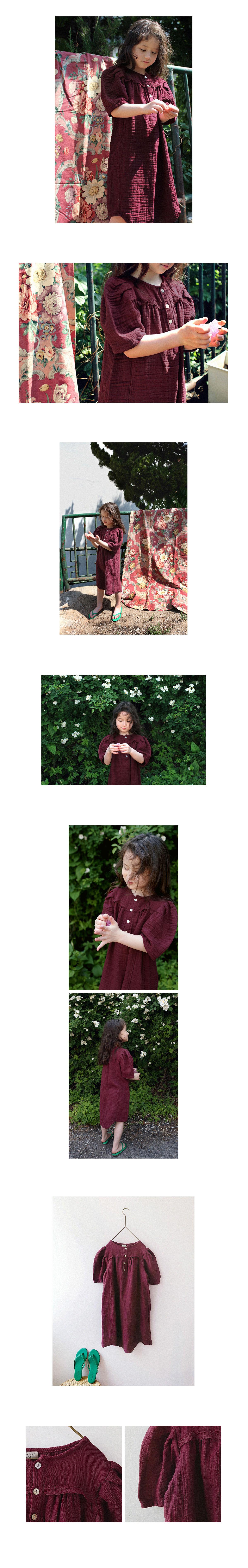 SCON - Korean Children Fashion - #Kfashion4kids - Ashre One-piece - 2