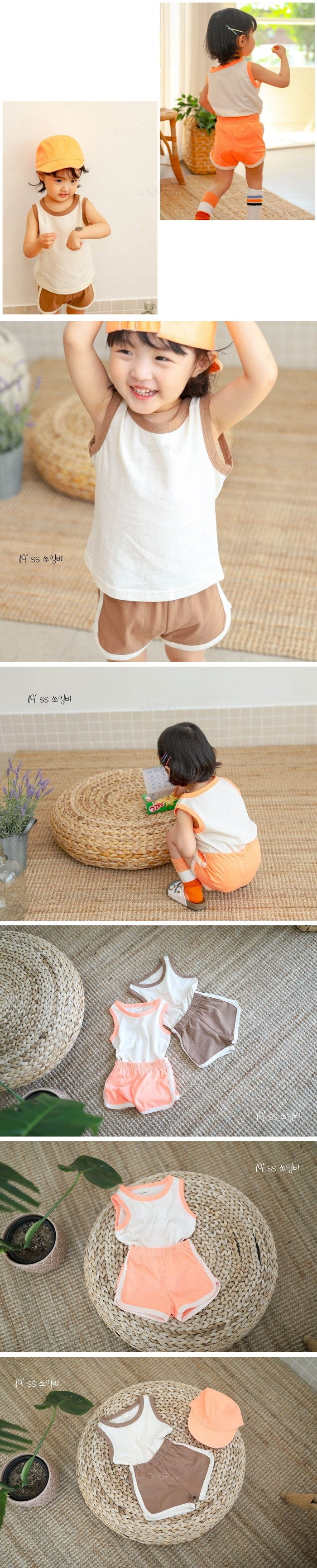SEWING-B - Korean Children Fashion - #Kfashion4kids - Crayon Top Bottom Set