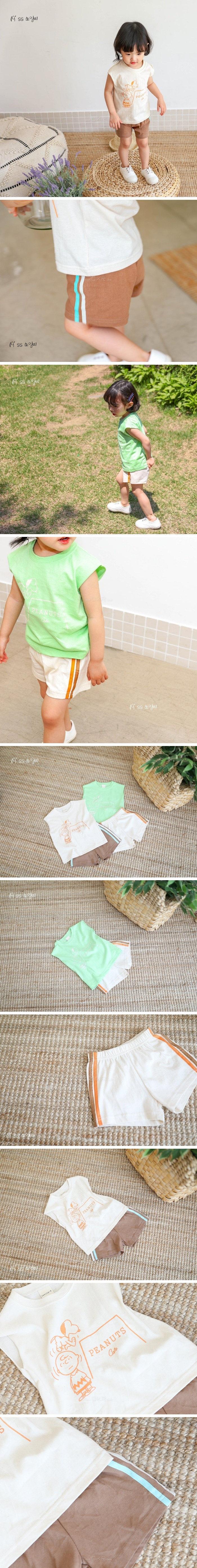 SEWING-B - Korean Children Fashion - #Kfashion4kids - Peanut Top Bottom Set