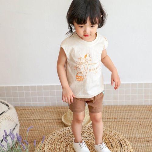 SEWING-B - BRAND - Korean Children Fashion - #Kfashion4kids - Peanut Top Bottom Set