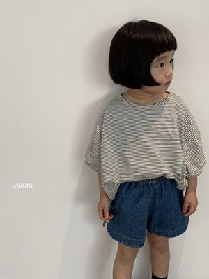 UNIUNI - BRAND - Korean Children Fashion - #Kfashion4kids - Stripe Tee
