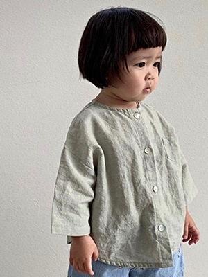 UNIUNI - BRAND - Korean Children Fashion - #Kfashion4kids - Shirt Cardigan