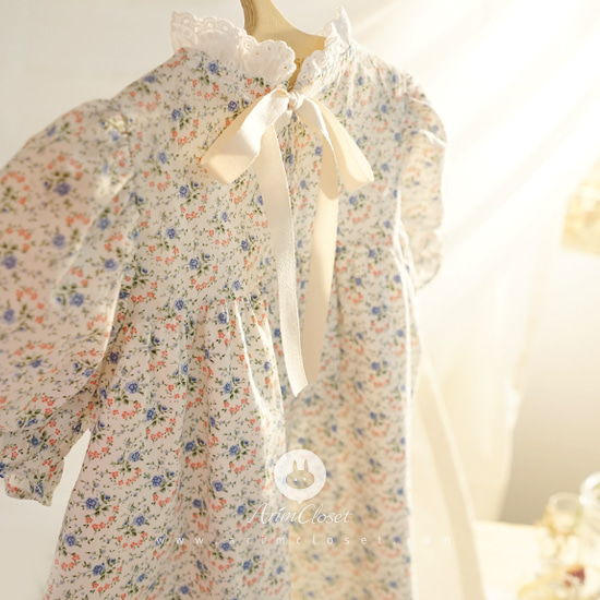ARIM CLOSET - BRAND - Korean Children Fashion - #Kfashion4kids - Lace Point Flower Cotton Baby Dress
