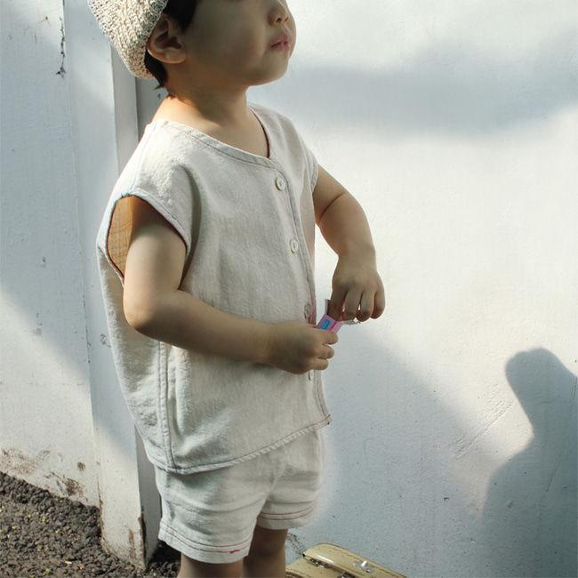 BIEN A BIEN - BRAND - Korean Children Fashion - #Kfashion4kids - Cool Linen Vest