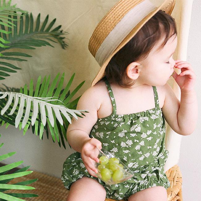 BIEN A BIEN - BRAND - Korean Children Fashion - #Kfashion4kids - Bloomer Sleeveless Baby Bodysuit