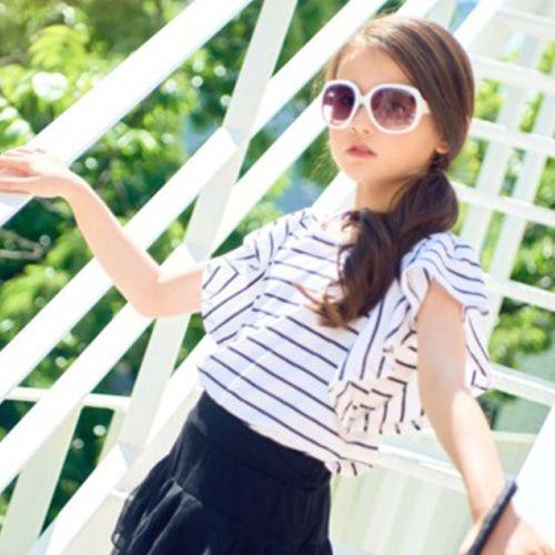 C.L PLUS - BRAND - Korean Children Fashion - #Kfashion4kids - Stripe Wing Tee