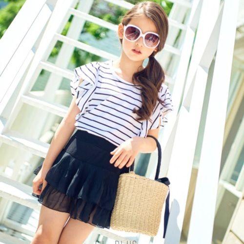 C.L PLUS - BRAND - Korean Children Fashion - #Kfashion4kids - Chiffon Cancan Skirt