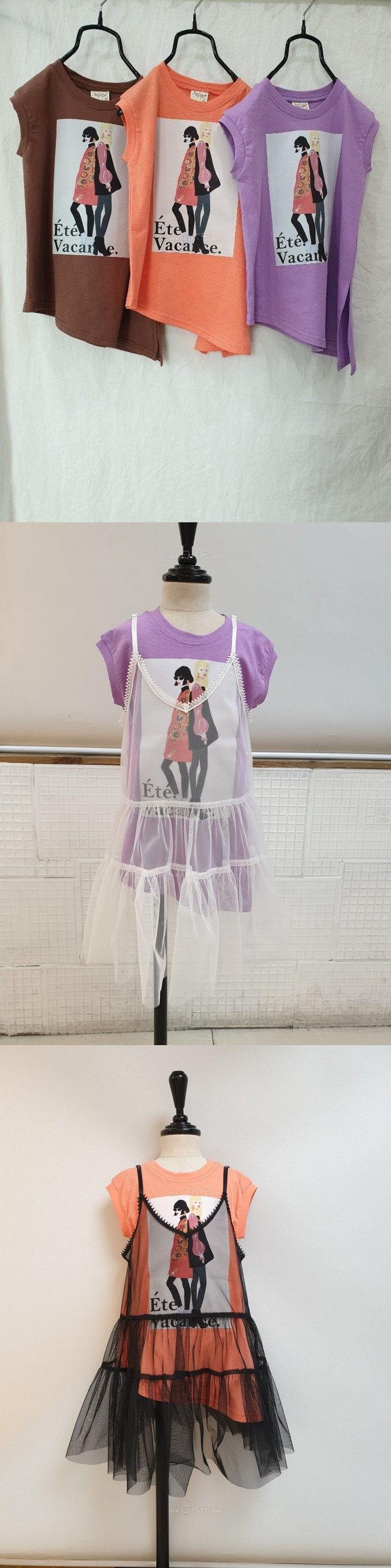 C.L PLUS - Korean Children Fashion - #Kfashion4kids - Model Unbal Tee