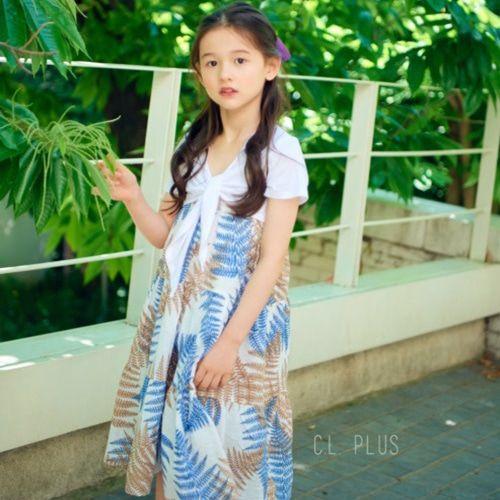 C.L PLUS - BRAND - Korean Children Fashion - #Kfashion4kids - Leaf One-piece