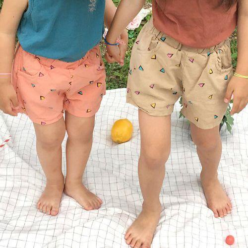 CONCOCTER - BRAND - Korean Children Fashion - #Kfashion4kids - Triangle Square Short Pants