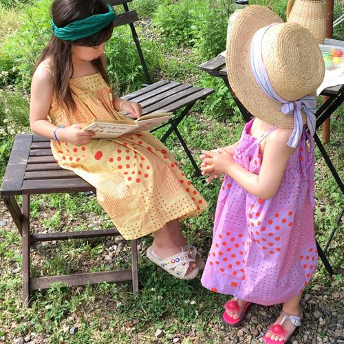 CONCOCTER - BRAND - Korean Children Fashion - #Kfashion4kids - Holic Dot String One-piece