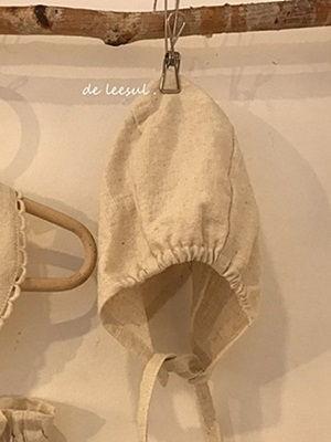 DE LEESUL - BRAND - Korean Children Fashion - #Kfashion4kids - Linen Bonnet