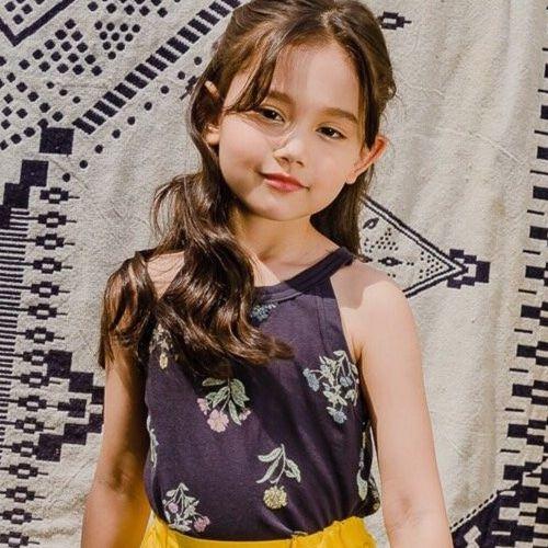 DORE DORE - BRAND - Korean Children Fashion - #Kfashion4kids - Floral Sleeveless Top