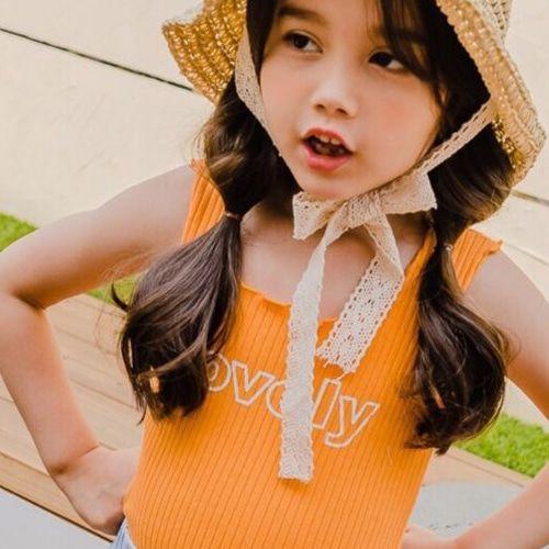 DORE DORE - BRAND - Korean Children Fashion - #Kfashion4kids - Lovely Rib Sleeveless Tee