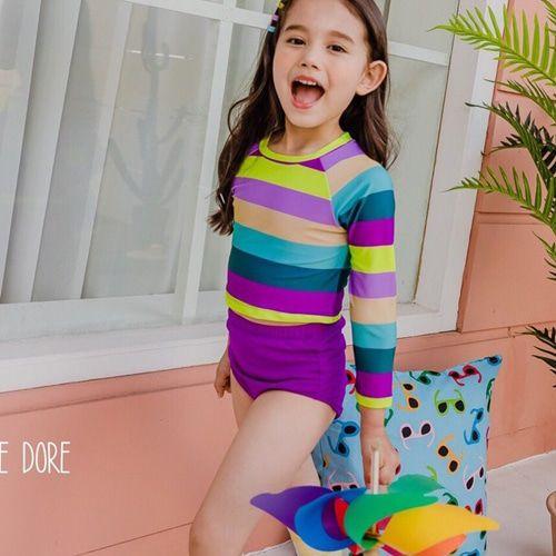 DORE DORE - BRAND - Korean Children Fashion - #Kfashion4kids - Rainbow Rashguard