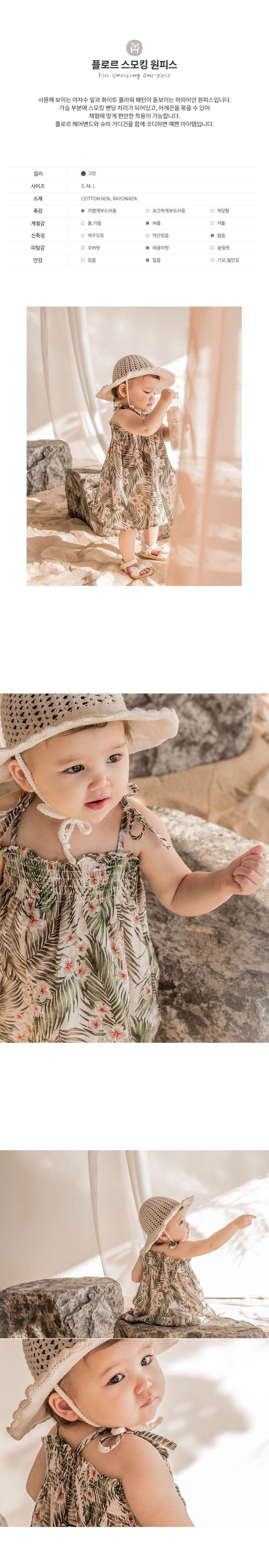 HAPPY PRINCE - Korean Children Fashion - #Kfashion4kids - Flor Smocking One-piece - 2