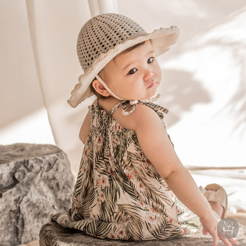 HAPPY PRINCE - BRAND - Korean Children Fashion - #Kfashion4kids - Flor Smocking One-piece