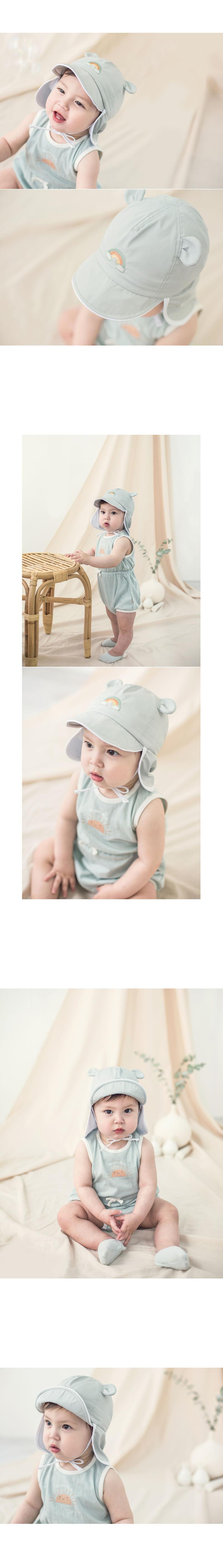 HAPPY PRINCE - Korean Children Fashion - #Kfashion4kids - Nene Iris UV Flap Cap - 6