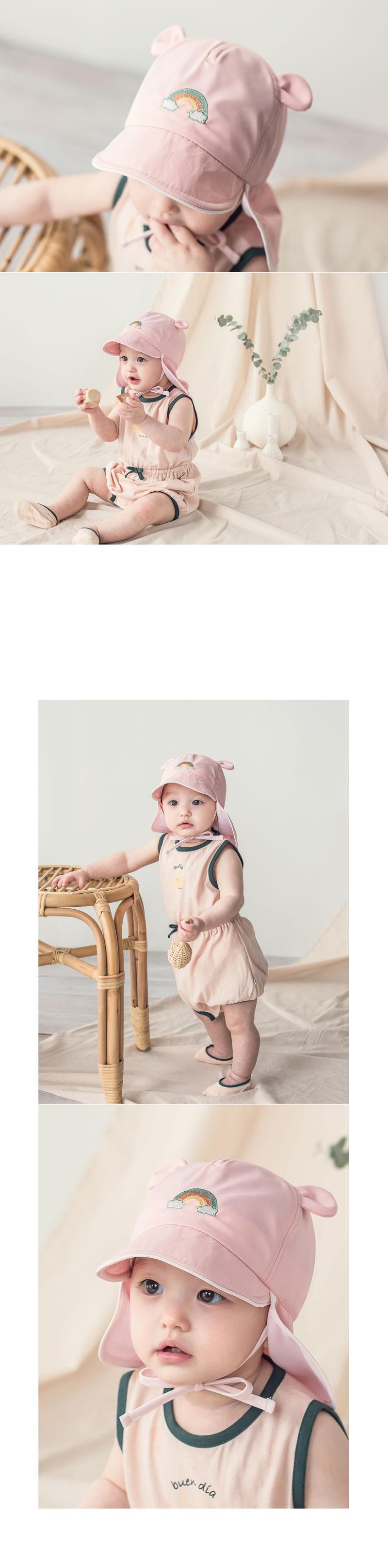 HAPPY PRINCE - Korean Children Fashion - #Kfashion4kids - Nene Iris UV Flap Cap - 8
