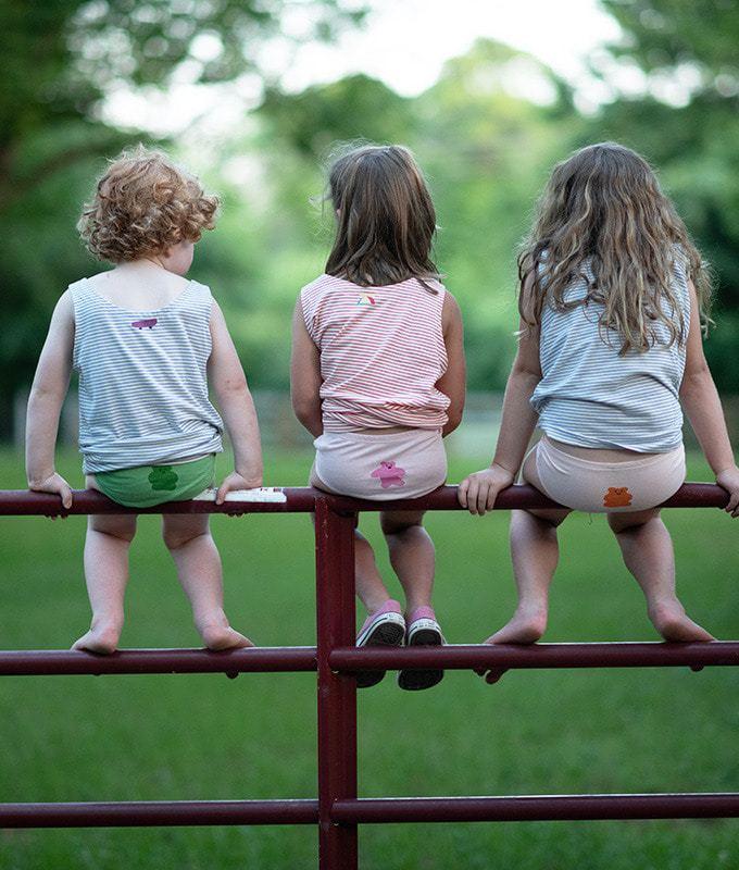 KOKACHARM - BRAND - Korean Children Fashion - #Kfashion4kids - Bear Jelly Girls Underwear [set of 2]