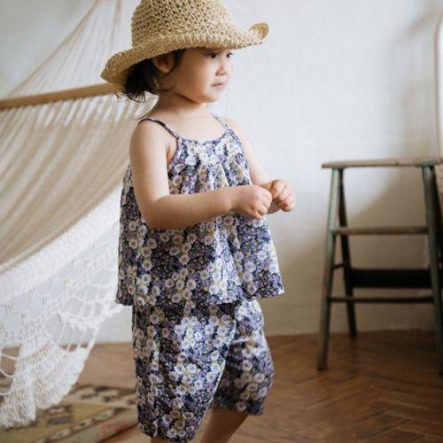 LITTLE COLLI - BRAND - Korean Children Fashion - #Kfashion4kids - Tree Top Bottom Set