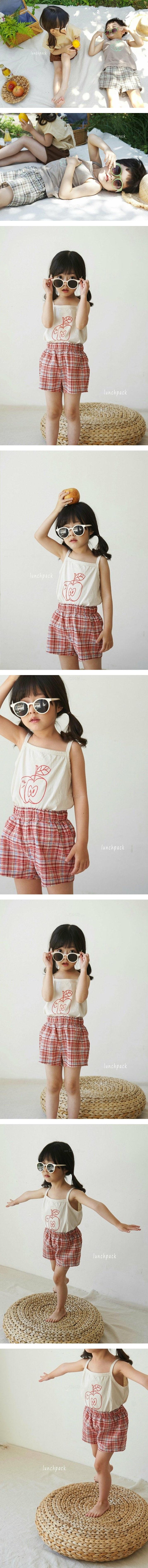 LUNCHPACK - Korean Children Fashion - #Kfashion4kids - Charlie Check Short Pants