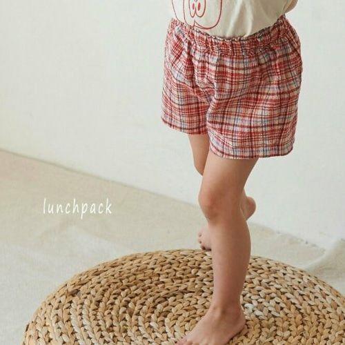 LUNCHPACK - BRAND - Korean Children Fashion - #Kfashion4kids - Charlie Check Short Pants