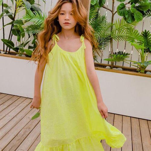 MATILDA & LEE - BRAND - Korean Children Fashion - #Kfashion4kids - Neon String One-piece
