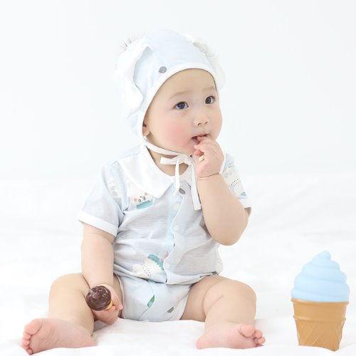 MEREBE - BRAND - Korean Children Fashion - #Kfashion4kids - Yoku Bebe Short Baby Bodysuit