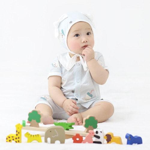 MEREBE - BRAND - Korean Children Fashion - #Kfashion4kids - Yoku Bebe Short Baby Easywear