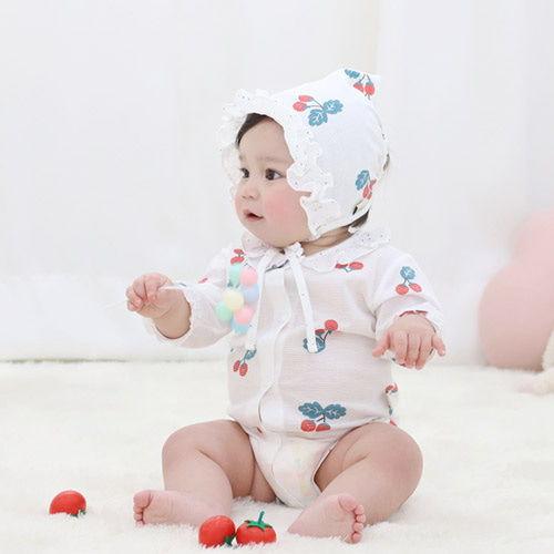 MEREBE - BRAND - Korean Children Fashion - #Kfashion4kids - Tomato Midi Baby Bodysuit
