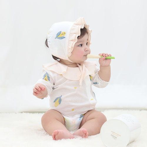 MEREBE - BRAND - Korean Children Fashion - #Kfashion4kids - Corn Baby Midi Bodysuit