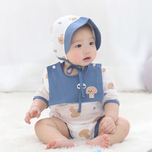 MEREBE - BRAND - Korean Children Fashion - #Kfashion4kids - Doggy Mushroom Baby Midi Bodysuit