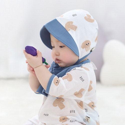 MEREBE - BRAND - Korean Children Fashion - #Kfashion4kids - Doggy Mushroom Summer Bonnet