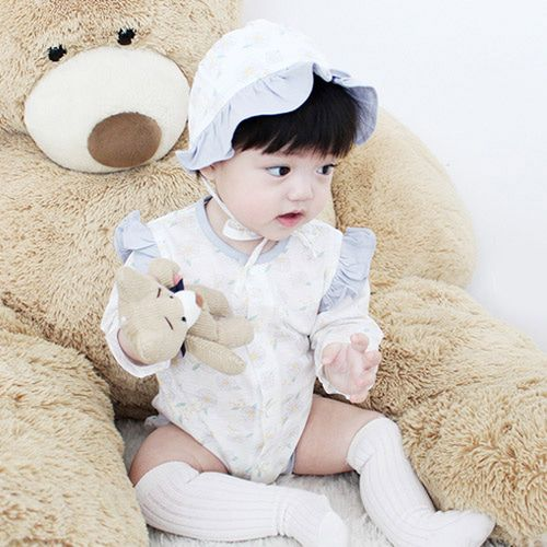 MEREBE - BRAND - Korean Children Fashion - #Kfashion4kids - Calendula Baby Midi Bodysuit