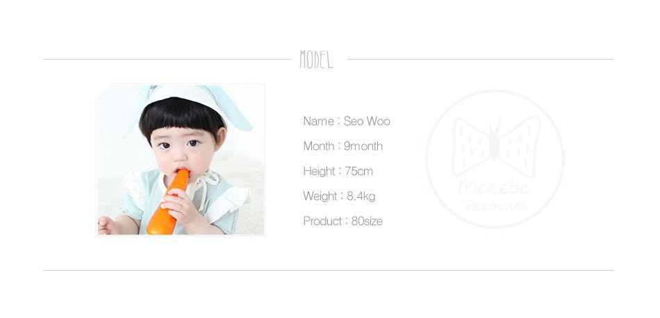 MEREBE - Korean Children Fashion - #Kfashion4kids - Ribbon Rabbit Short Bodysuit - 3
