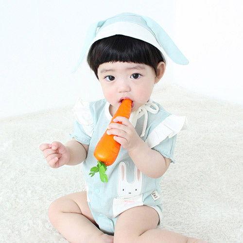 MEREBE - BRAND - Korean Children Fashion - #Kfashion4kids - Ribbon Rabbit Short Bodysuit