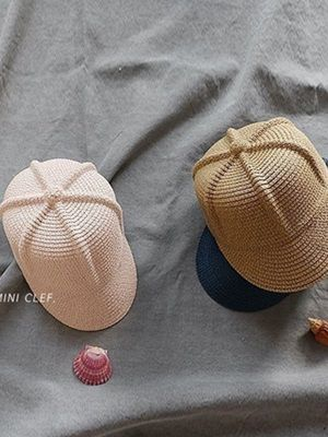 MINI CLEF - BRAND - Korean Children Fashion - #Kfashion4kids - Straw Riding Cap