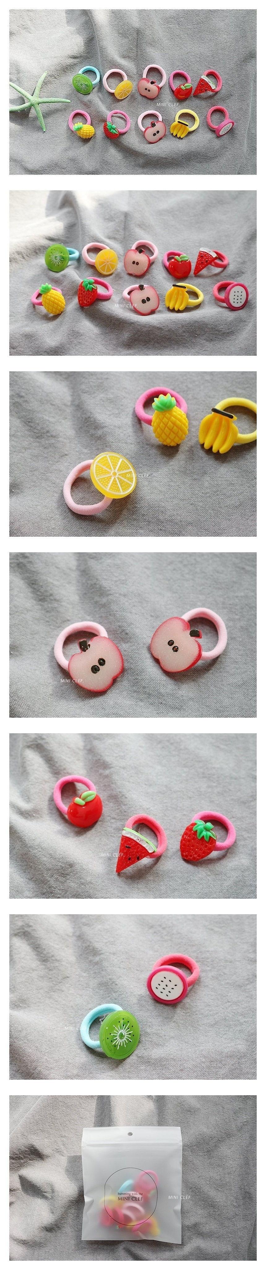 MINI CLEF - Korean Children Fashion - #Kfashion4kids - Fruits Hairstring [set of 10