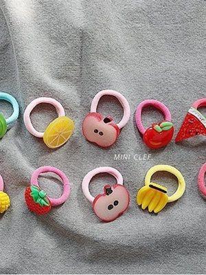 MINI CLEF - BRAND - Korean Children Fashion - #Kfashion4kids - Fruits Hairstring [set of 10