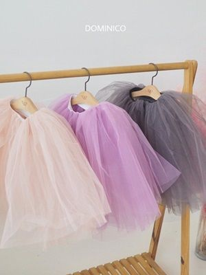 MINI CLEF - BRAND - Korean Children Fashion - #Kfashion4kids - Solid Long Ballet Tutu