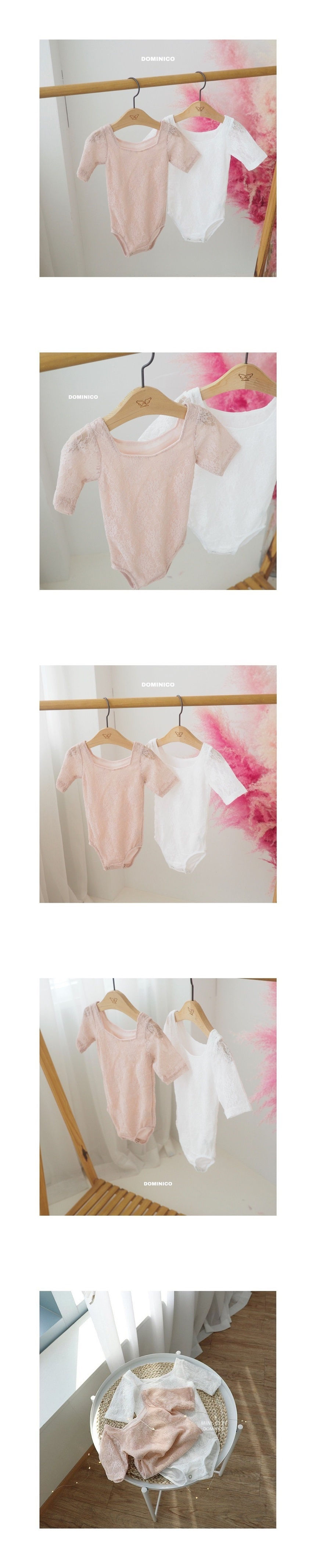 MINI CLEF - Korean Children Fashion - #Kfashion4kids - Lace Short Leotard