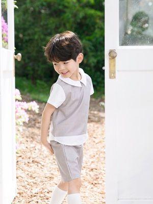 POURENFANT - BRAND - Korean Children Fashion - #Kfashion4kids - Donner Linen Top Bottom Set