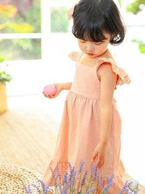 SEWING-B - BRAND - Korean Children Fashion - #Kfashion4kids - Saffron One-piece