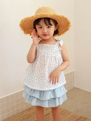 SEWING-B - BRAND - Korean Children Fashion - #Kfashion4kids - Ribbon Sleeveless Blouse