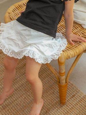SEWING-B - BRAND - Korean Children Fashion - #Kfashion4kids - Eyelet Short Pants