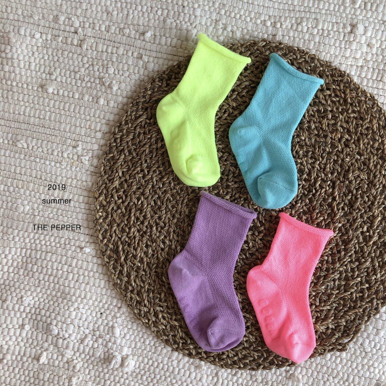 THE PEPPER - Korean Children Fashion - #Kfashion4kids - Mesh Socks [set of 4] - 2