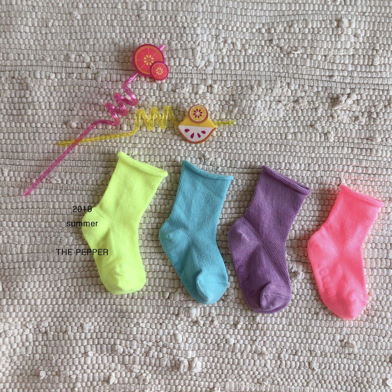 THE PEPPER - Korean Children Fashion - #Kfashion4kids - Mesh Socks [set of 4] - 4