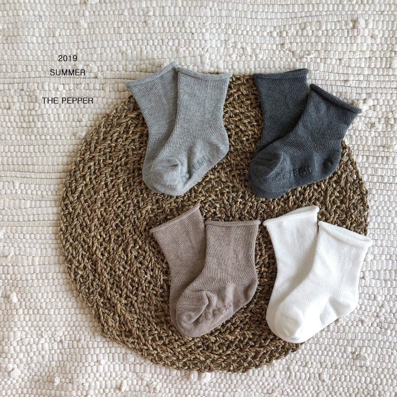 THE PEPPER - Korean Children Fashion - #Kfashion4kids - Mesh Socks [set of 4] - 5